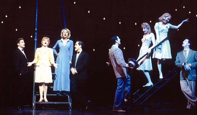 Treat Williams, Lauren Ward, Judith Ivey, Blythe Danner, Gregory Harrison, Joey Sorge, Erin Dilly and Richard Roland in 'Follies' at the Belasco The